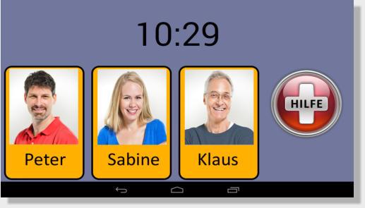 Hallo! App Startbildschirm