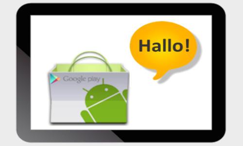 Tablet PlayStore Hallo!App